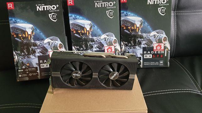 Видеокарта Radeon RX 570 4 Gb Sapphire Nitro + REFF Гарантия 12 месяце