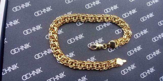 Złota bransoletka galibardi,pozłacana bransoletka galibardi,złoto,750p