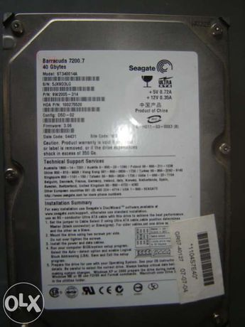 Disco rigido Interno Seagate 40GB
