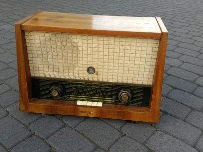 Stare zabytkowe radio Diora PRL antyk