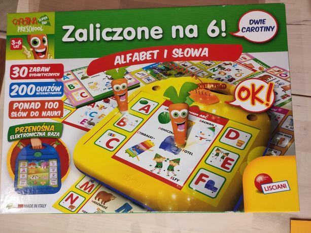 Marchewka Carotina Zaliczone na 6, Alfabet i słowa, Gra Edukacyjna