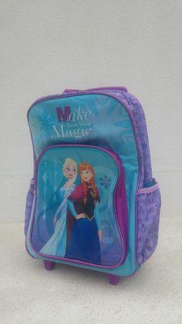 Mochila escolar Disney Frozen Elsa e Anna (com oferte de estojo)