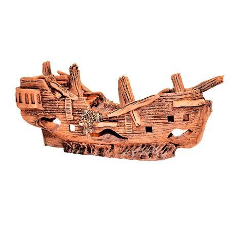 Statek do akwarium reczna praca z ceramiki. 2,7 kg