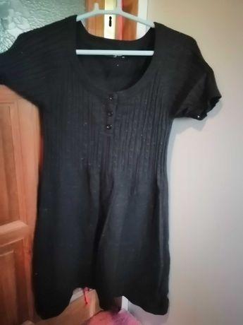 Tunika sweterek czarny M/L