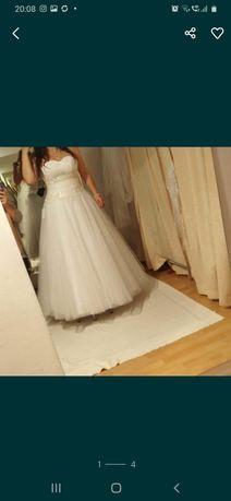 Sukienka ślubna + 2 welony