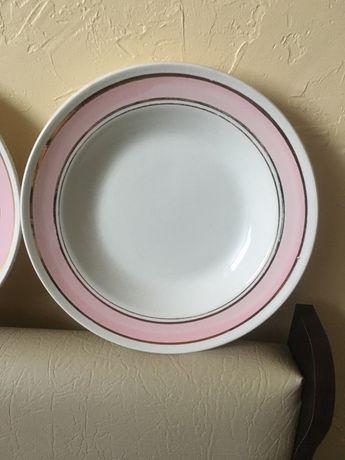 Набір фаянсових тарілок (супрві, порційні), ціна за комплект 190 грн