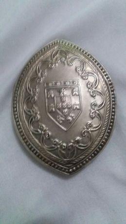 Antiga caixa de selo antiga prata não contrastada