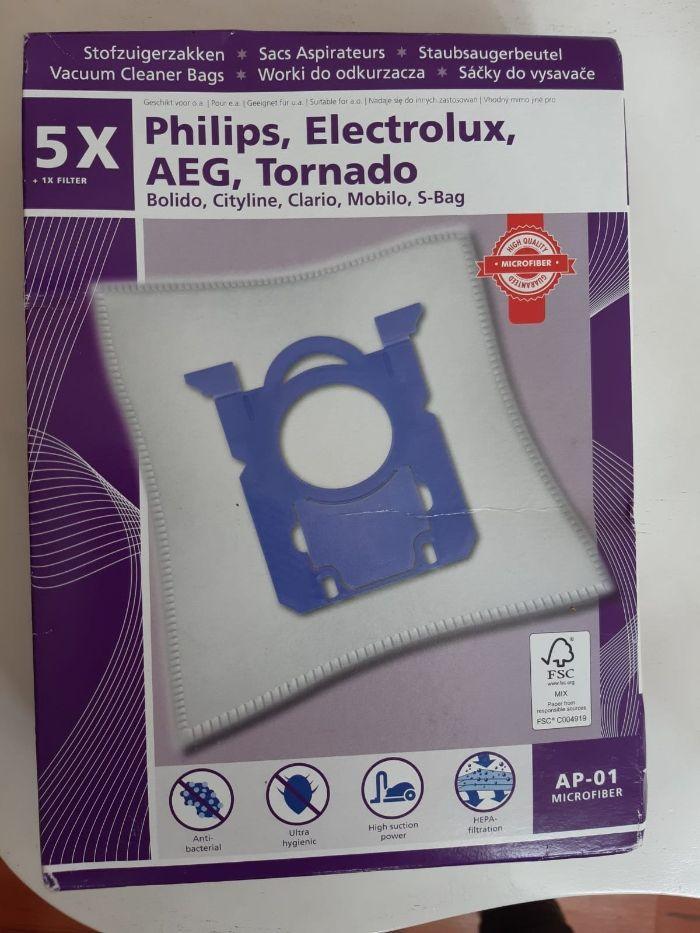 Worki do odkurzacza z mikrofibry HEPA Philips Electrolux Tornado 5szt Rybnik - image 1