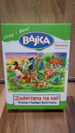 Zwierzęta na Wsi - Puzzle Małego Bystrzaka