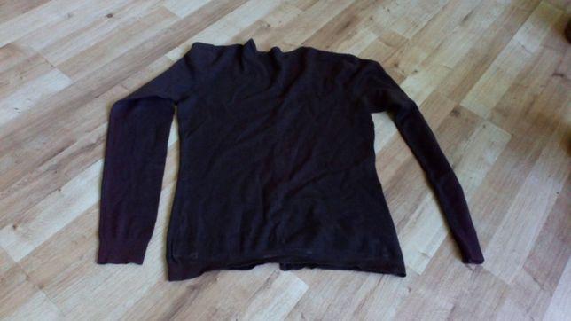 Brązowy sweterek guziki ściągacz roz 38