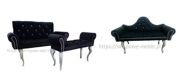 Sofa, sofka, ławka Glamour 135 cm. Promocja.