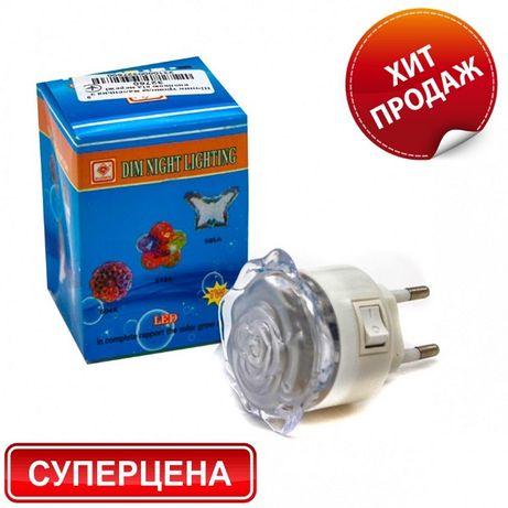 Детский светильник-ночник LED Розочка в детскую комнату (розетку)