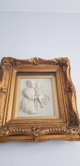 """Obraz ,, Kobieta z dzieckiem """" z alabastru ."""
