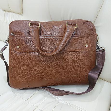 Мужской портфель сумка из натуральной кожи