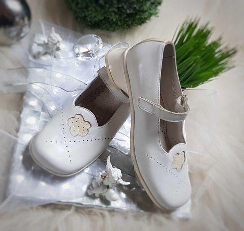 Buty komunijne dziewczęce ze skóry naturalnej firmy,,Bartek,,rozm35