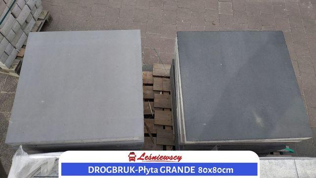PŁYTA betonowa kostka DROGBRUK-GRANDE 80x80cm duży format! WYPRZEDAŻ!