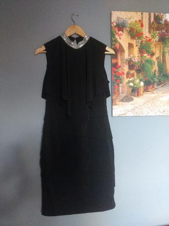 Czarna dopasowana sukienka Orsay, rozmiar 40