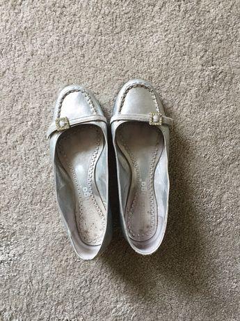 Sapatos menina em pele prata com strass MISSANGA tamanho 34