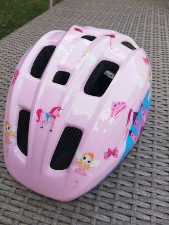 Kask rowerowy dziecięcy dla dziewczynki różowy rozmiar S/M