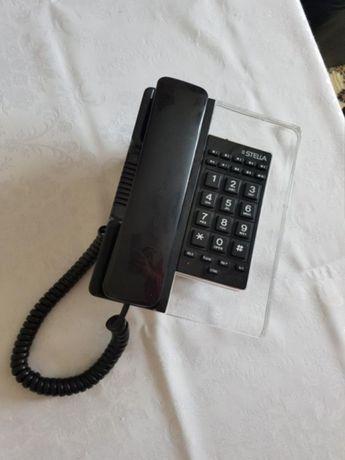 JAK NOWY szklany CZARNY TELEFON stacjonarny STELLA Wiszący biurko