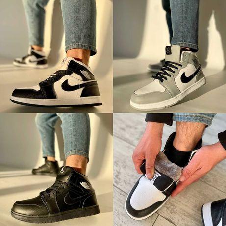 Мужские кроссовки Nike Air Jordan 1 Retro Fur 41-46 Кожа! Мех! Топ