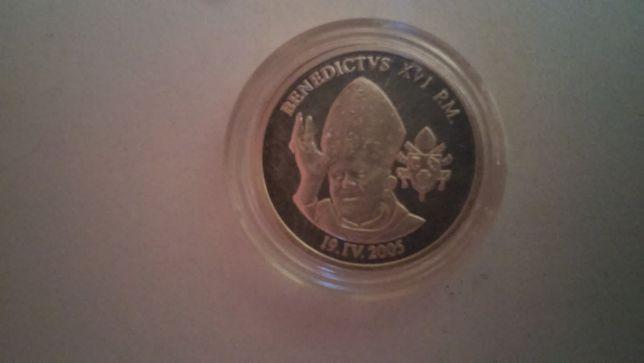 Moneta/medal Benedykt XVI srebro