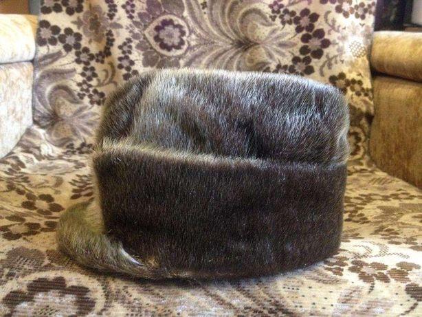 мужская зимняя шапка из нерпы