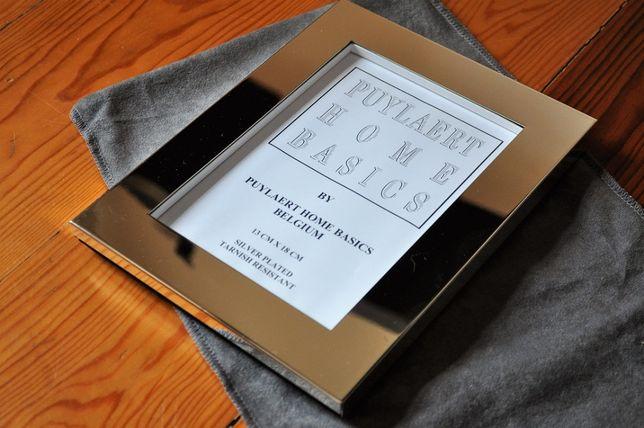 Moldura para fotografia revestida a prata