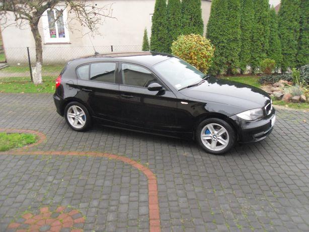 BMW 118 2.0d 2008r oferta prywatna wł od 6 lat czarny 5 drzwi