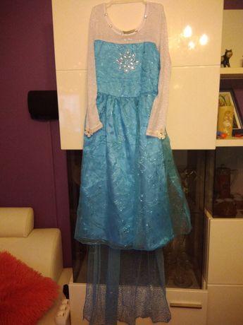 Sukienka Elsa,KRAINA LODU j.nowa, na 7-8 lat, r. 128-140
