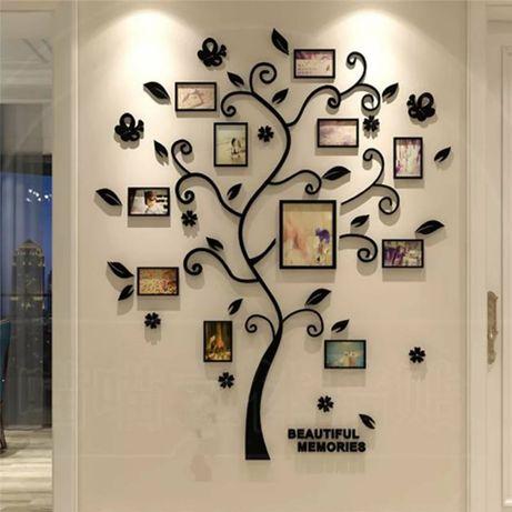 Семейное дерево, фотообои, наклейка на стену 80х100 см, подарок