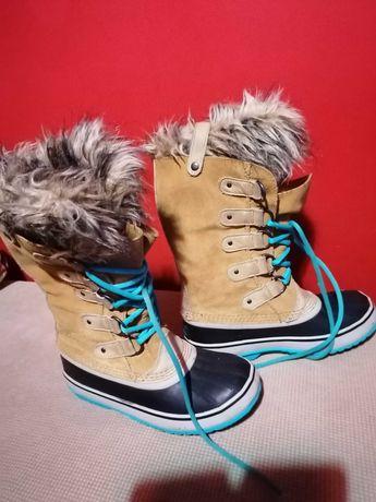 Damskie buty sorel sniegowce