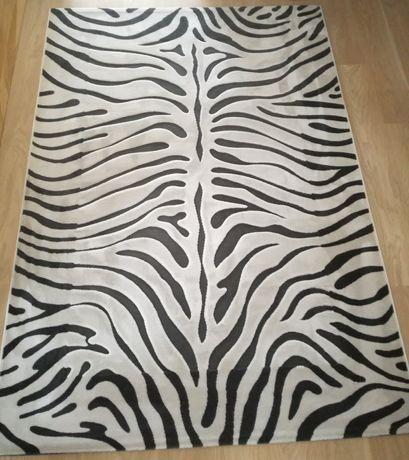 Dywan zebra 160x230 cm Lilium Angora 100% acrylic akryl biało czarny