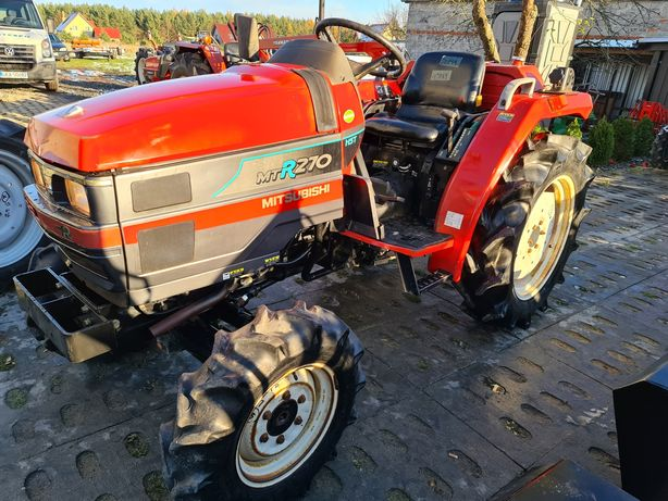 Mini Traktor,ciagnik Mitsubishi,hydrostat,wspomaganie,rewers jak nowy!