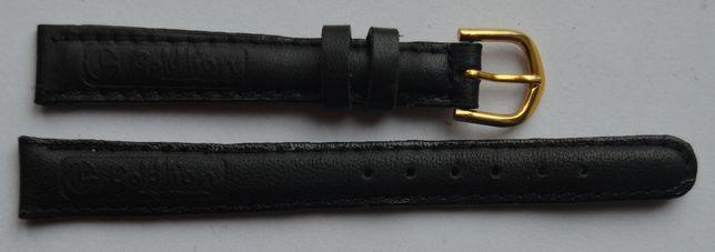 Czarny damski pasek do zegarka 12 mm. Nowy! Skórzany! Wysoka jakość!