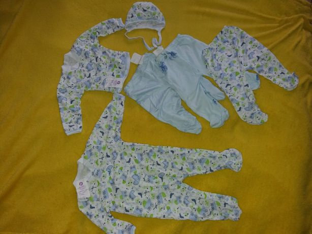 Комплект на новорожденгого мальчика + Комбинезон В ПОДАРОК