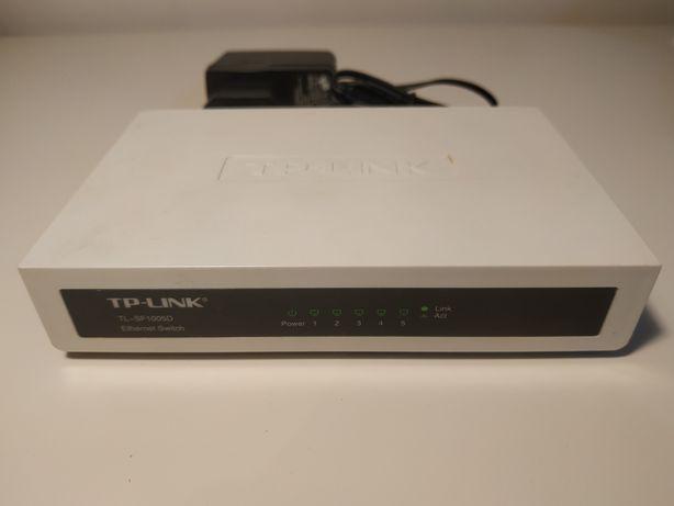 Switch 5 port TP-LINK TL-SF1005D + zasilacz 9V 0,6A