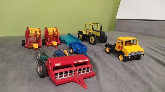 Zestaw maszyn britains jak Siku traktor pług siewnik