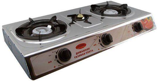 Настольная газовая плита таганок печка печь 3 конфорки