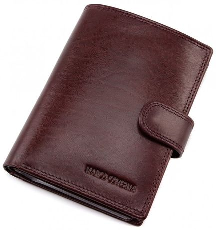 Мужской кошелёк из натуральной кожи с отделением для паспорт Marco cov