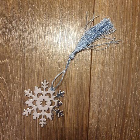 Zakładka do książki śnieżka gwiazdka płatek śniegu