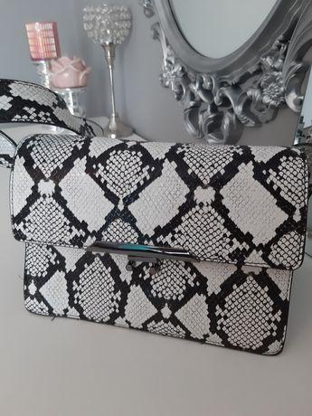Wężowa torebka saddle bag