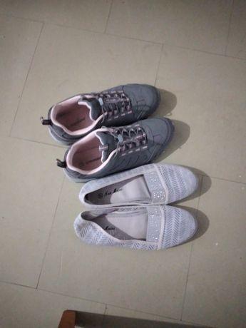 Dwie pary butów adidasy i buty letnie