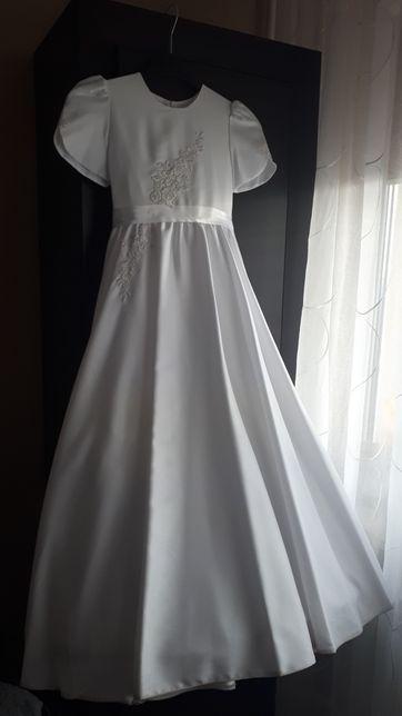 Suknia sukienka alba komunijna wianek woreczek Wwa