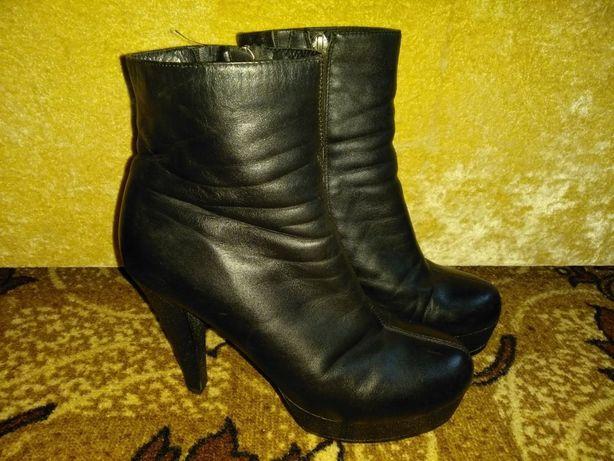 Ботинки зимние женские кожа
