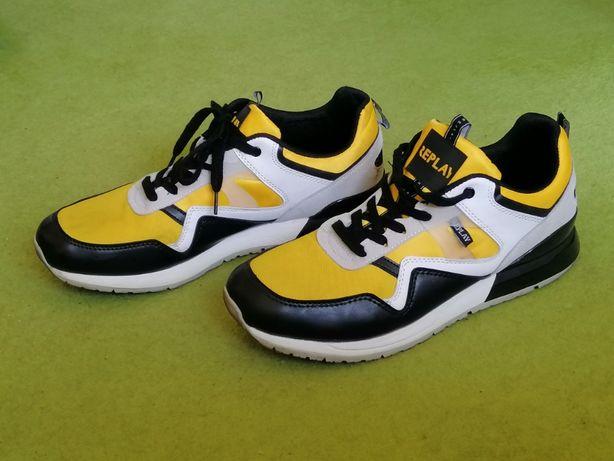 Buty męskie REPLAY rozmiar 45 czarno żółte sneakers sportowe