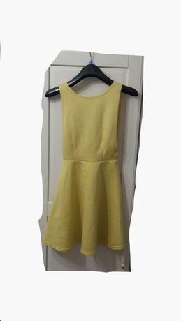 Sukienka żółta rozkloszowana sukienki