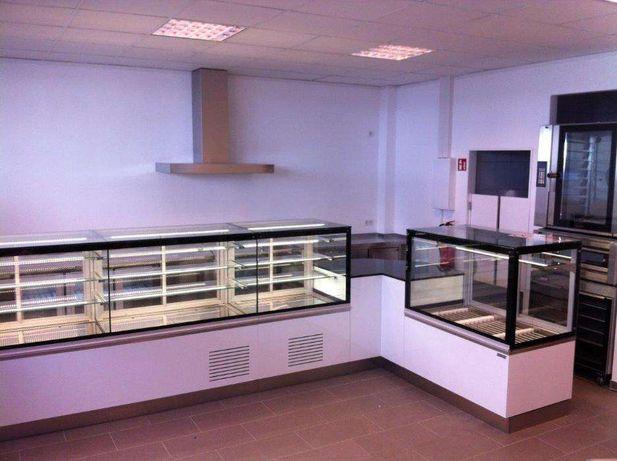 Balcão expositor pastelaria, vitrine refrigerada