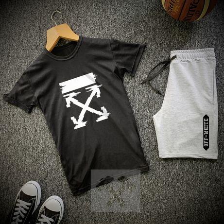 Стильные мужские спортивные комплекты/костюмы. Футболка + шорты