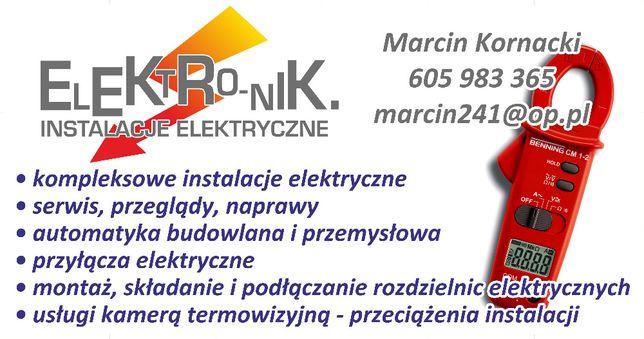 Elektryk/automatyk - usługi elektryczne, kompleksowo , uprawnienia.